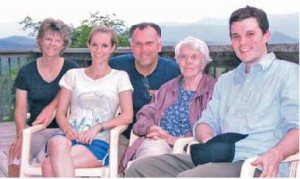Summer 2008: Wife, Donna; daughter, Missy; Steve; Steve's mom, Leslie; son, K.C.