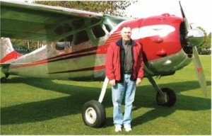 Steve with his Cessna 195