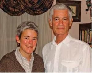 Deborah Springhorn with renowned photojournalist James Nachtwey, who inspired her award-winning curriculum proposal.