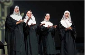 Lebanon resident and NCCT board member Margaret Hunton, Judi Daigle, NCCT president Amy Fortier, and Kelli Minelli perform in the summer production of The Sound of Music.