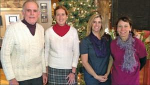 Dr. Robert Keene, Nancy DuMont, Shelley Giguere, and Mary Davis