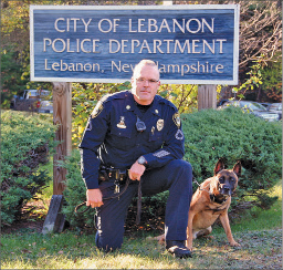 K-9 Max with Lebanon Police Officer Jeremy Perkins.