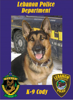 Lebanon Police Officer John Tracy's late K-9 companion Cody.