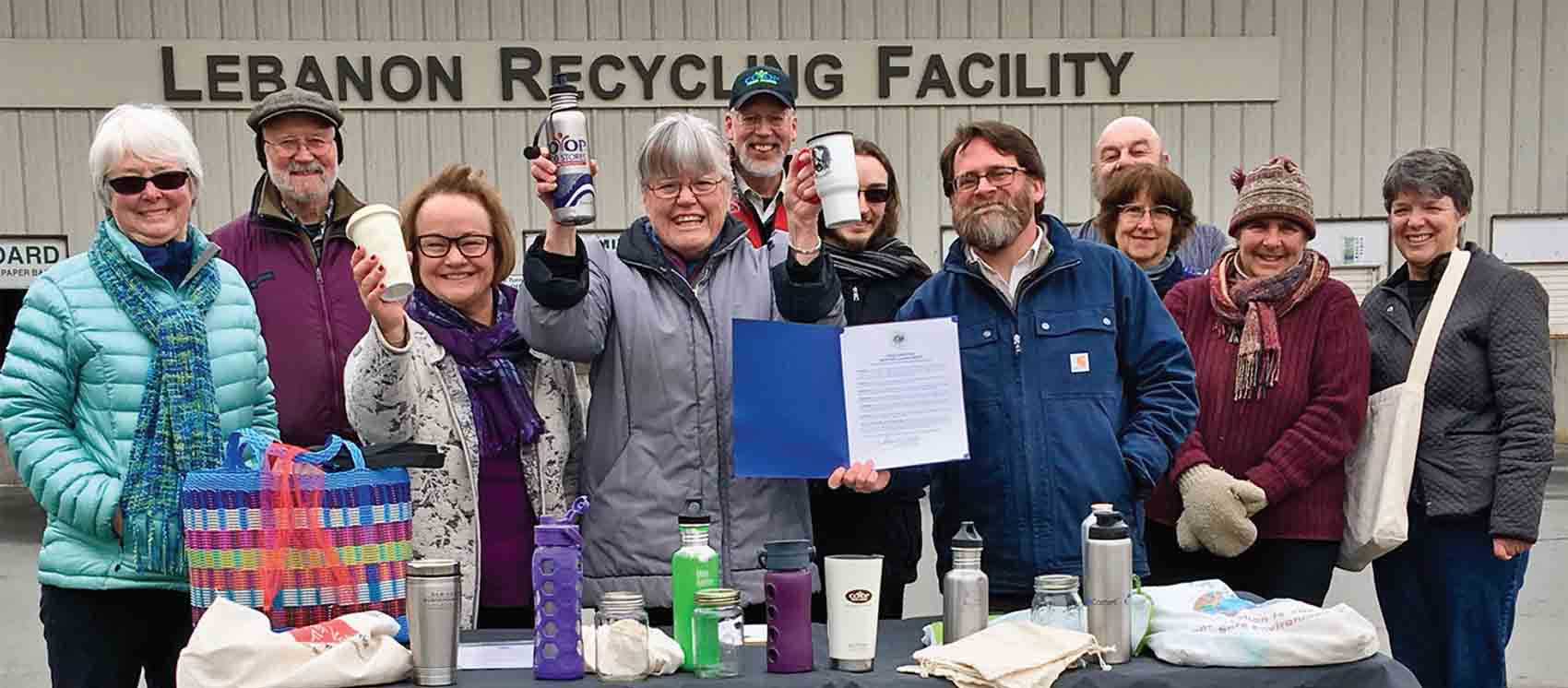 Lebanon mayor's proclamation ceremony at Lebanon's Recycling Facility