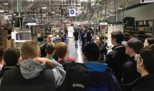 Students from Lebanon High School & Thetford Academy tour Hypertherm's assembly operations at their Heater Road facility