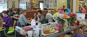 eating at grandma's place