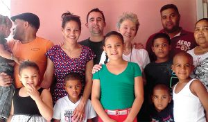 Yani & Dan in the DR in 2013 with her brothers Fermin & Dionisio; mother-in-law Katie; mom Eduvijis; nieces & nephews